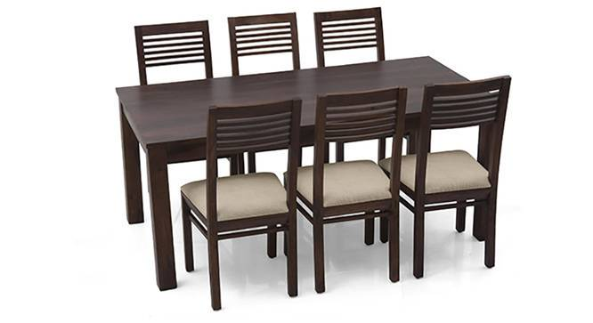 Arabia XL - Zella 6 Seater Dining Set (Mahogany Finish, Wheat Brown) by Urban Ladder