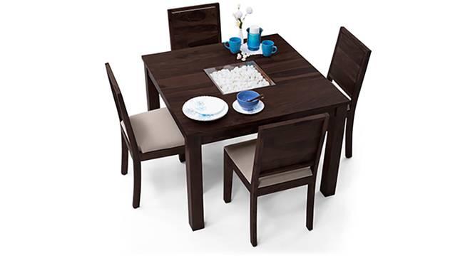 Brighton Square - Oribi 4 Seater Dining Table Set (Mahogany Finish, Wheat Brown) by Urban Ladder