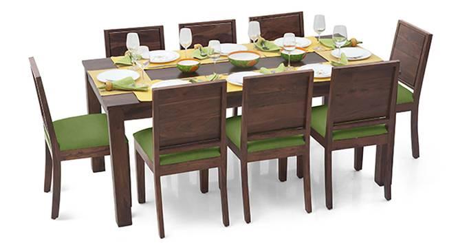Arabia XL - Oribi 8 Seater Dining Set (Teak Finish, Avocado Green) by Urban Ladder