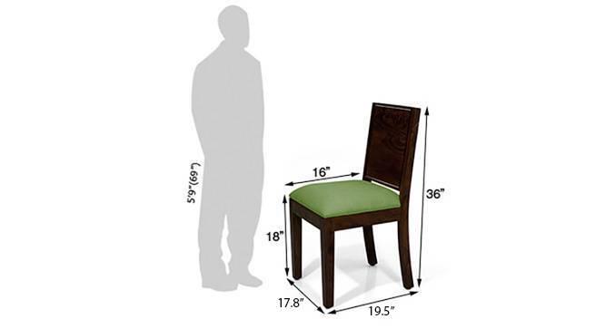 Oribi dining chairs 6 green mahogany dm