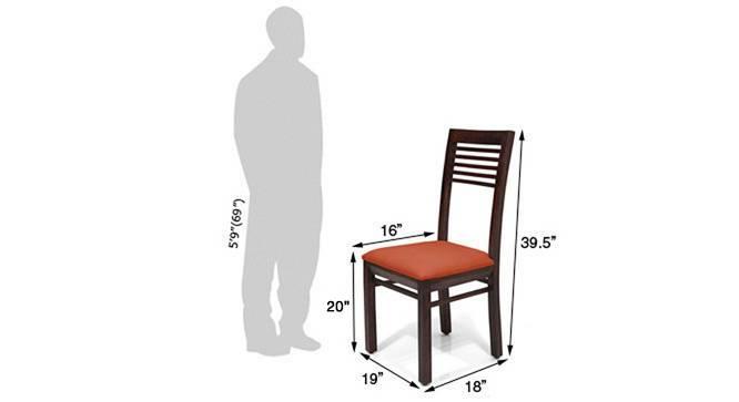 Zella dining chairs set of 2 orange 5 img 858 orange mahogany dm