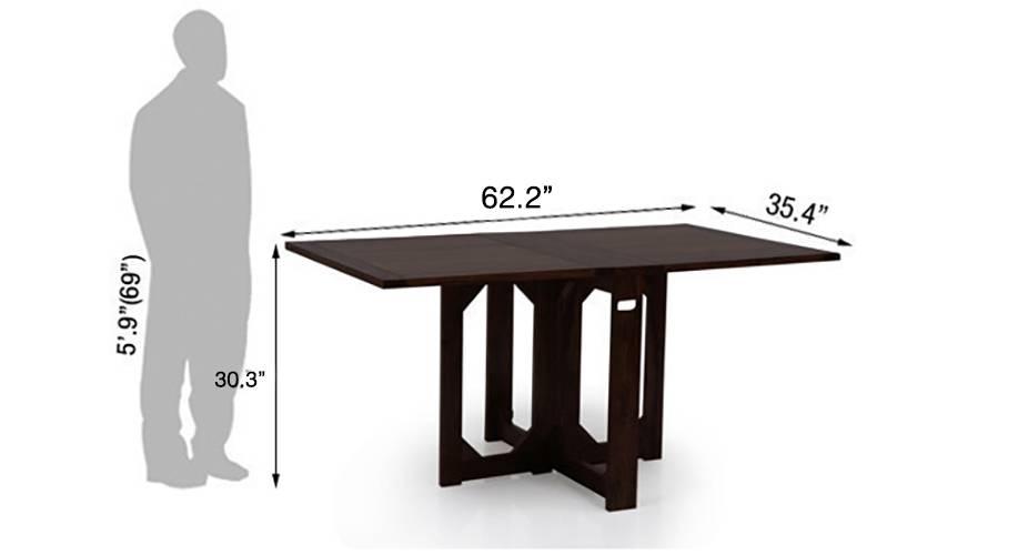 Danton folding dining table mahogany