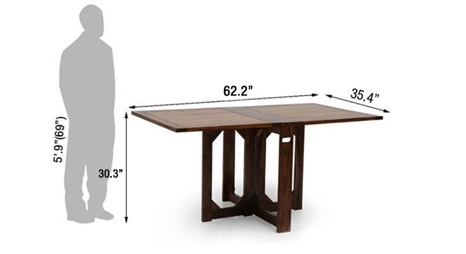 Danton folding dining table teak