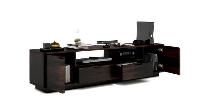 Zephyr Large TV Unit (Mahogany Finish) by Urban Ladder - Design 1 Half View - 125597
