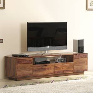 Zephyr Large TV Unit (Teak Finish) by Urban Ladder - Design 1 Full View - 125614