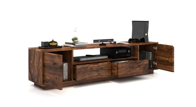 Zephyr Large TV Unit (Teak Finish) by Urban Ladder - Design 1 Half View - 125613