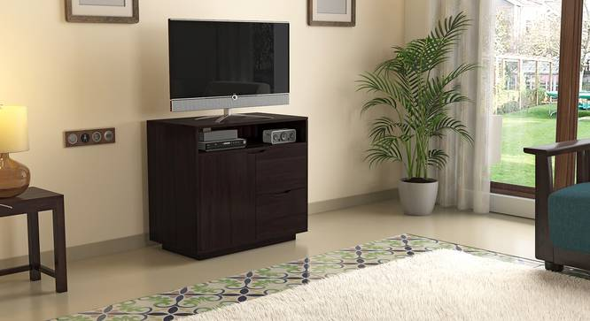 Zephyr High TV Unit (Mahogany Finish) by Urban Ladder - Design 1 Full View - 125647