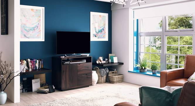 Zephyr High TV Unit (Mahogany Finish) by Urban Ladder