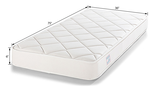 Cloud Comfort Mattress (Single Mattress Type, 75 x 36 in Mattress Size, 6 in Mattress Thickness (in Inches)) by Urban Ladder