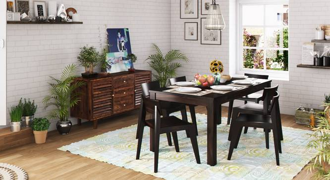 Arabia XL Storage - Gordon 6 Seater Dining Table Set (Mahogany Finish) by Urban Ladder - Design 1 Full View - 126045