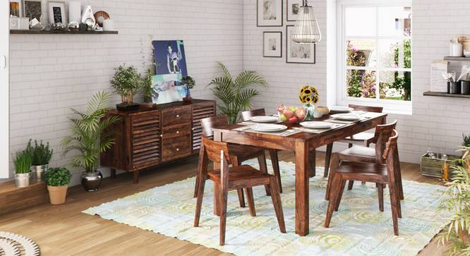 Arabia XL Storage - Gordon 6 Seater Dining Table Set (Teak Finish) by Urban Ladder - Design 1 Full View - 126060