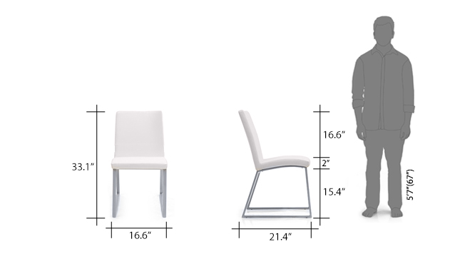 Delphin dining chair revised dimension
