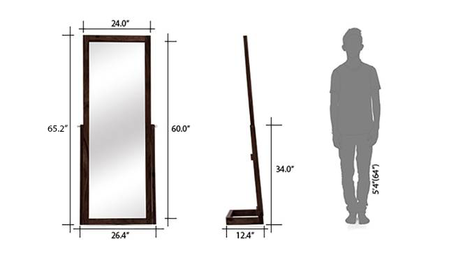 Sirius standing mirror mahogany replaced 09