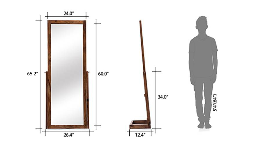 Sirius standing mirror teak replaced 09