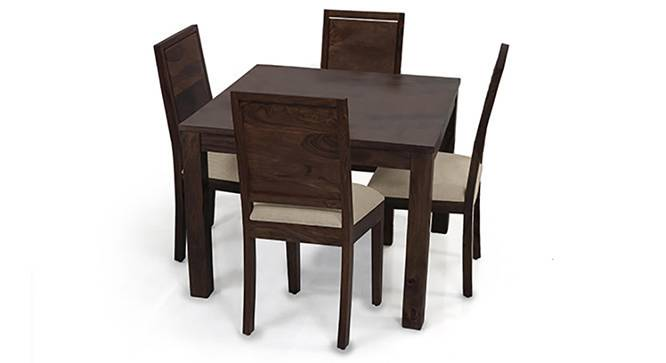 Arabia Square - Oribi 4 Seater Dining Table Set (Mahogany Finish, Wheat Brown) by Urban Ladder