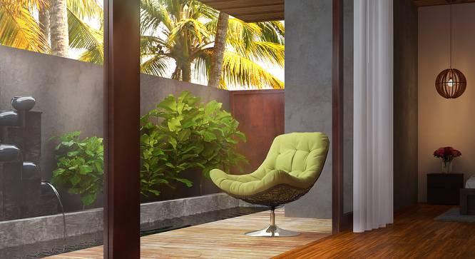 Calabah Swivel Lounge Chair (Green) by Urban Ladder