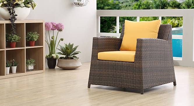 Samui Patio Chair (Brown Finish) by Urban Ladder - Full View Design 1 - 127908