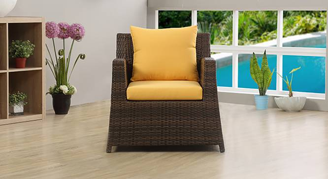 Samui Patio Chair (Brown Finish) by Urban Ladder - Half View Design 1 - 127909