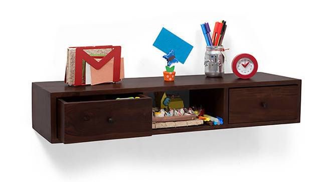 Claudio Console Shelf (Mahogany Finish) by Urban Ladder - Half View Design 1 - 128340
