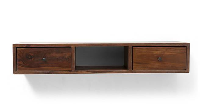 Claudio Console Shelf (Teak Finish) by Urban Ladder - Design 1 Front View - 128349