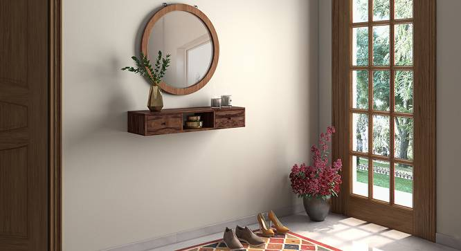 Claudio Console Shelf (Teak Finish) by Urban Ladder - Full View Design 1 - 128355