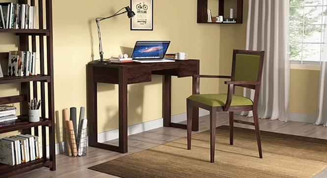Austen Compact - Aurelio Study Sets (Mahogany Finish, Olive) by Urban Ladder - Full View Design 1 - 128538