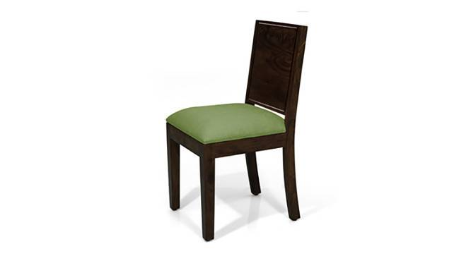 Oribi Dining Chairs - Set of 2 (Mahogany Finish, Avocado Green) by Urban Ladder