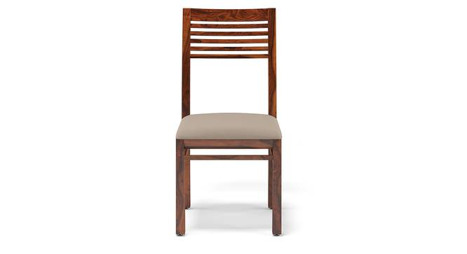 Zella Dining Chairs - Set of 2 (Teak Finish, Wheat Brown) by Urban Ladder - Front View Design 1 - 128866