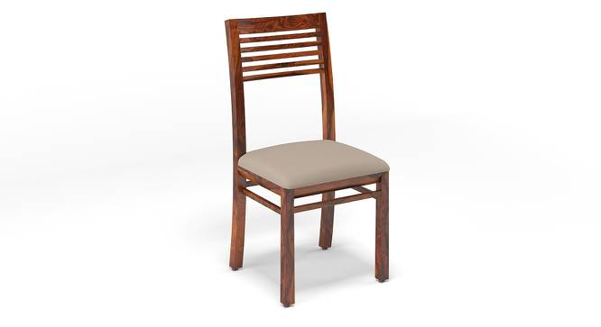 Zella Dining Chairs - Set of 2 (Teak Finish, Wheat Brown) by Urban Ladder - Design 1 Cross View - 128867