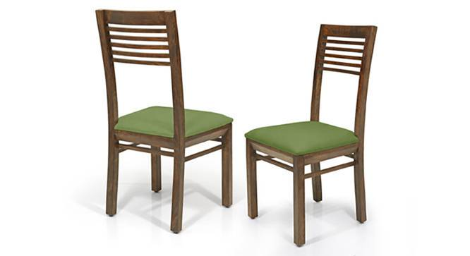 Zella Dining Chairs - Set of 2 (Teak Finish, Avocado Green) by Urban Ladder - Front View Design 1 - 128872