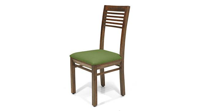 Zella Dining Chairs - Set of 2 (Teak Finish, Avocado Green) by Urban Ladder