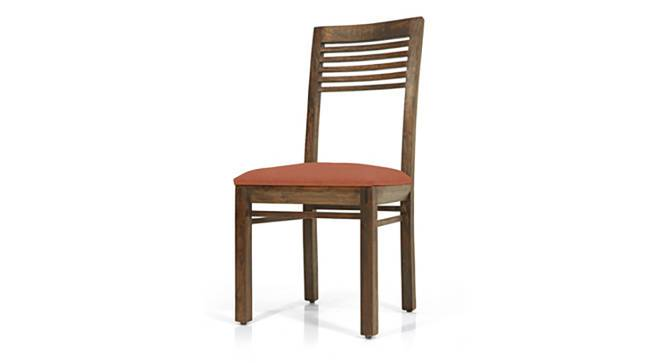 Zella Dining Chairs - Set of 2 (Teak Finish, Burnt Orange) by Urban Ladder