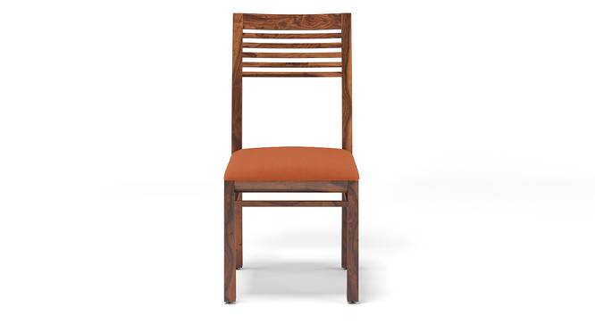 Zella Dining Chairs - Set of 2 (Teak Finish, Burnt Orange) by Urban Ladder - Design 1 Front View - 128891