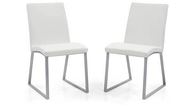 Delphine (Leatherette) Dining Chairs - Set of 2 (White) by Urban Ladder