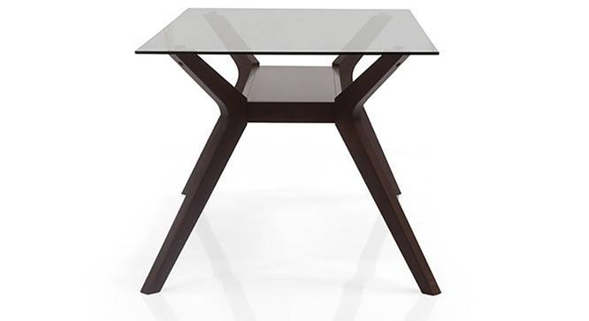 Wesley 6 Seater Glass Top Dining Table (Dark Walnut Finish) by Urban Ladder