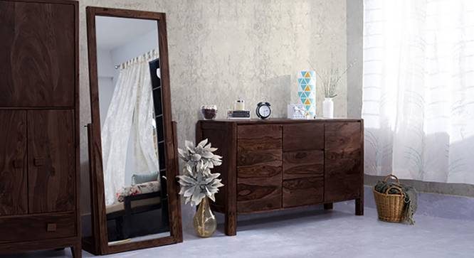 Sirius Standing Mirror (Mahogany Finish) by Urban Ladder - Full View Design 1 - 129059