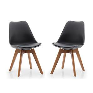 Pashe Dining Chairs - Set of 2 (Black) by Urban Ladder - Full View Design 1 - 118038