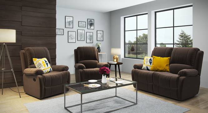 Tribbiani Recliner (Carafe Brown Fabric) by Urban Ladder - Design 1 Full View - 130522