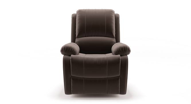 Tribbiani Recliner (Carafe Brown Fabric) by Urban Ladder - Front View Design 1 - 130523
