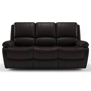 Tribbiani Three Seater Recliner Sofa (Chocolate Brown Leatherette) by Urban Ladder - - 130561