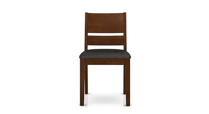 Cabalo (Leatherette) Dining Chairs - Set of 2 (Black, Dark Walnut Finish) by Urban Ladder - Front View Design 1 - 130579