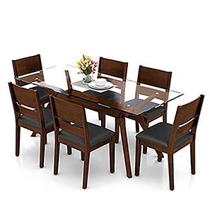Wesley cabalo leatherette 6 seater dining table set 00 lp