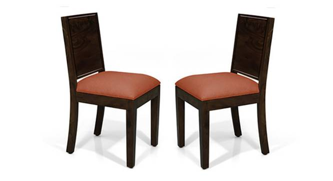 Oribi Dining Chairs - Set of 2 (Mahogany Finish, Burnt Orange) by Urban Ladder