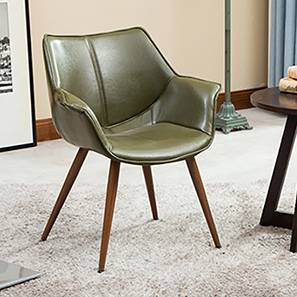 Keaton Lounge Chair (Olive Green) by Urban Ladder - Full View Design 1 - 128925