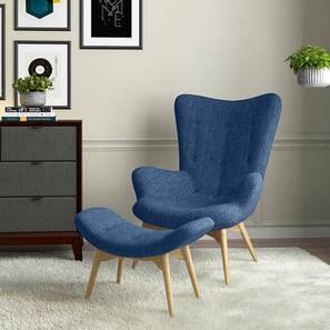 Contour Chair & Ottoman Replica (Blue) by Urban Ladder