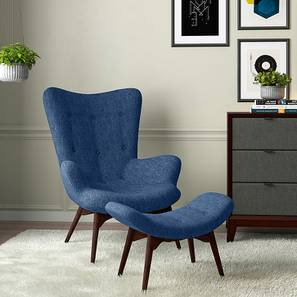 Contour Chair & Ottoman Replica (Blue) by Urban Ladder - - 13330