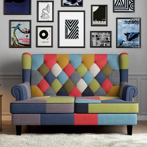 Minnelli Loveseat (Retro Patchwork) by Urban Ladder