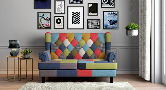 Minnelli Loveseat (Retro Patchwork) by Urban Ladder - Design 1 Full View - 133562