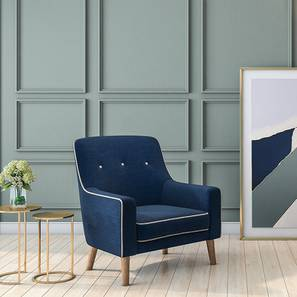 Hagen Lounge Chair (Cobalt) by Urban Ladder