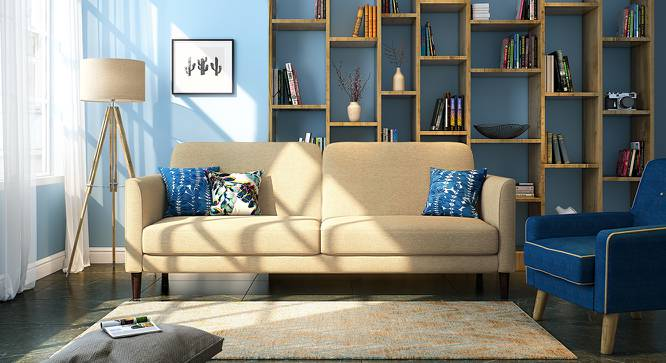 Felicity Sofa Cum Bed (Cream) by Urban Ladder - Design 1 Full View - 134398